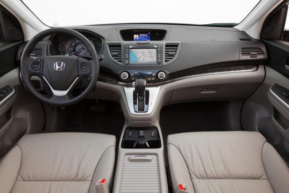 2014 Honda CR-V EX-L AWD interior.