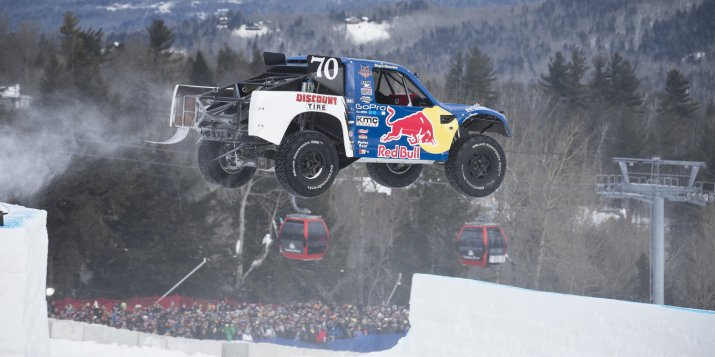 Bryce Menzies in action during the finals at Red Bull Frozen Rush at Sunday River in Newry, Maine, USA on 10 January, 2014.